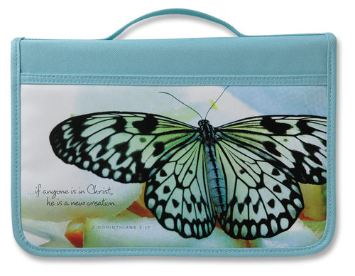 Inspiration New Creation Canvas Aqua Large Value Book and Bible Cover