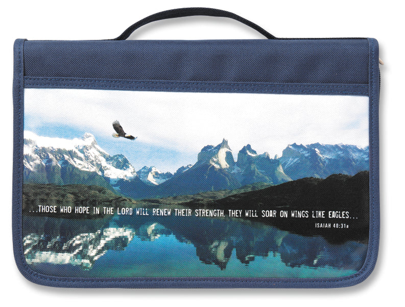 Inspiration Eagle Canvas Navy Large Value Book and Bible Cover