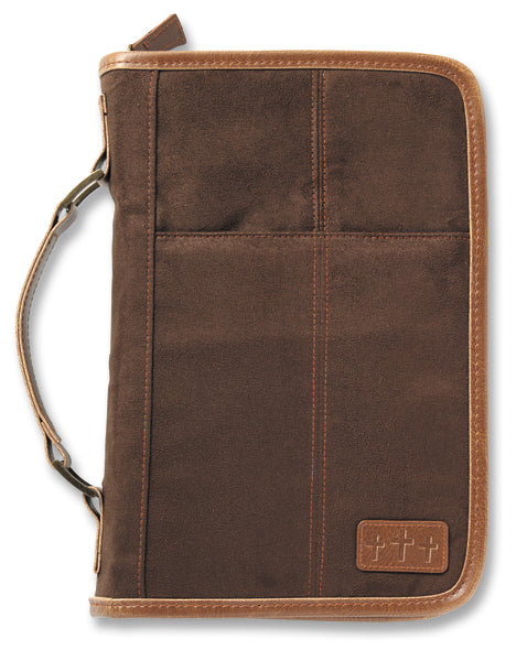 Aviator Brown Suede Extra Large Book and Bible Cover