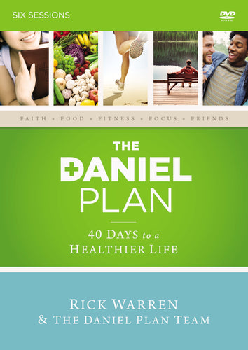 The Daniel Plan Video Study: 40 Days to a Healthier Life by Rick Warren, Daniel Amen, and Mark Hyman