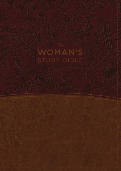 The NKJV, Woman's Study Bible, Leathersoft, Brown/Burgundy, Full-Color, Red Letter, Thumb Indexed: Receiving God's Truth for Balance, Hope, and Transformation by Dorothy Kelley Patterson and Rhonda Kelley