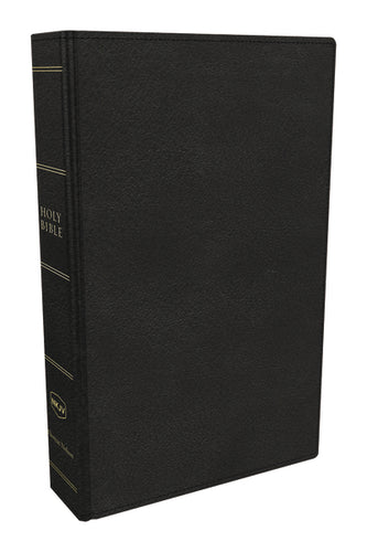 NKJV, Preaching Bible, Premium Calfskin Leather, Black, Comfort Print: Holy Bible, New King James Version