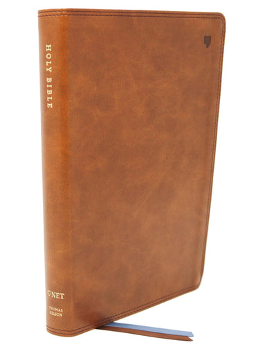 NET Bible, Thinline, Leathersoft, Brown, Comfort Print: Holy Bible