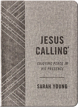Load image into Gallery viewer, Jesus Calling (Textured Gray Leathersoft): Enjoying Peace in His Presence (with Full Scriptures) by Sarah Young