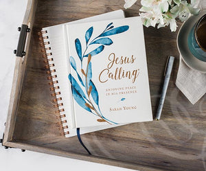 Jesus Calling (Large Text Cloth Botanical Cover): Enjoying Peace in His Presence