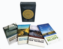 Load image into Gallery viewer, Zondervan's Seminary in a Box: Includes Christian Beliefs, Journey into God's Word, Introducing the Old Testament, and Introducing the New Testament