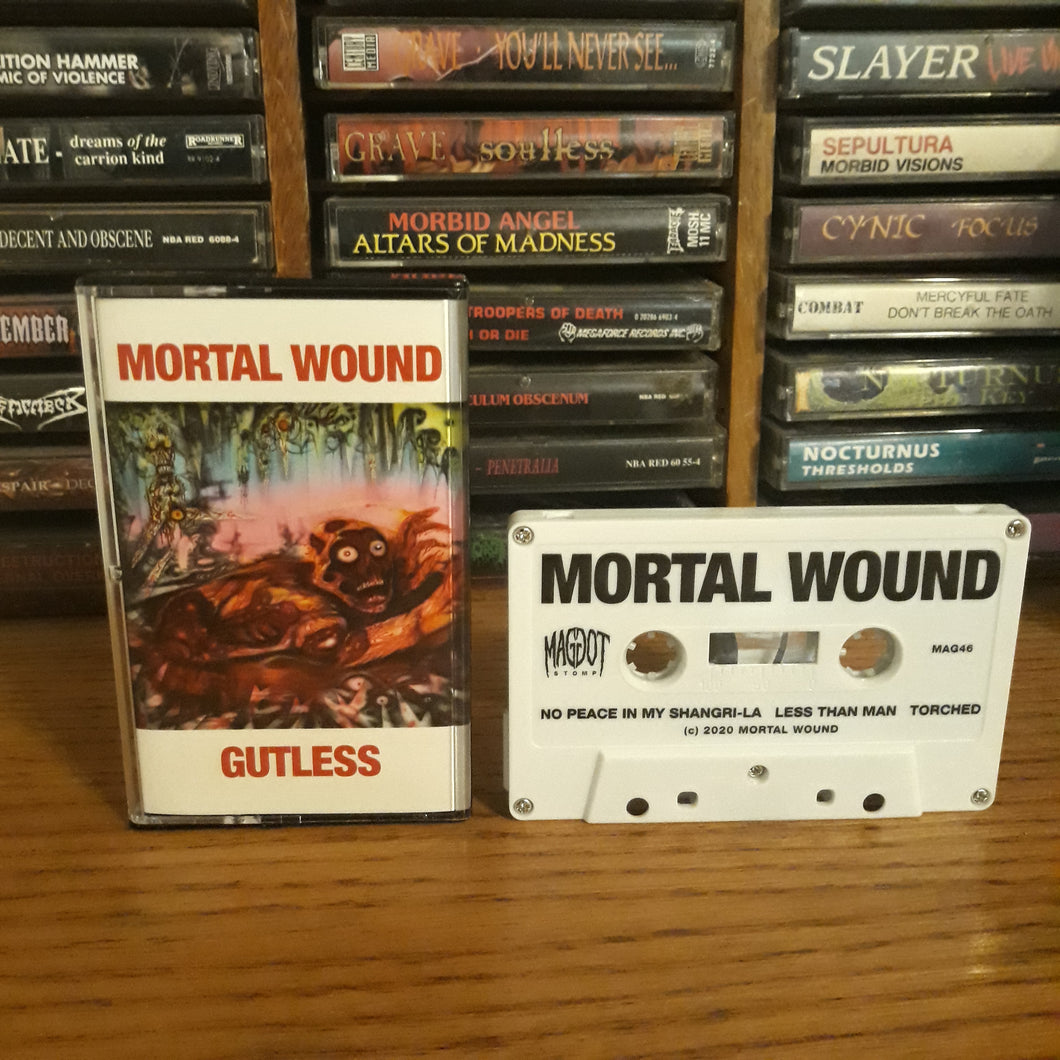 Mortal Wound/Gutless Split Cassette Tape