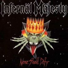 "Load image into Gallery viewer, Infernal Majesty ""None Shall Defy"" Piss Yellow Vinyl"