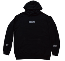 Load image into Gallery viewer, 'DYENASTY' BLACK EMBROIDERY HOODIE