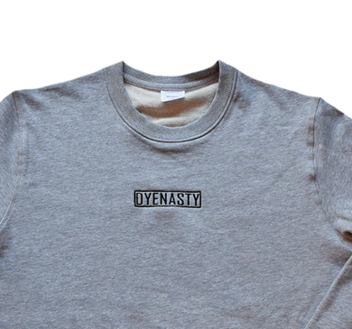 'DYENASTY' GREY MARLE CREW NECK