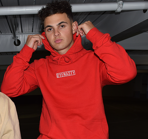 'DYENASTY' RED EMBROIDERY HOODIE