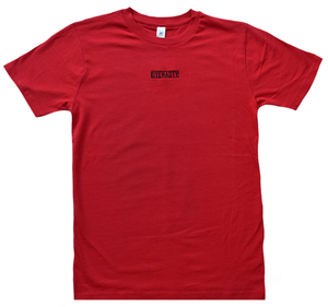 'DYENASTY' RED EMBROIDERY TEE