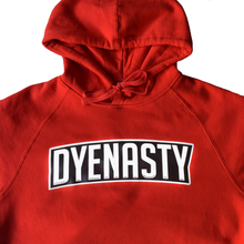 Load image into Gallery viewer, 'DYENASTY' RED BOX LOGO - HOODIE