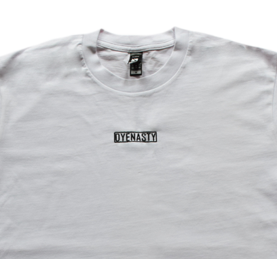 'DYENASTY' WHITE EMBROIDERY TEE
