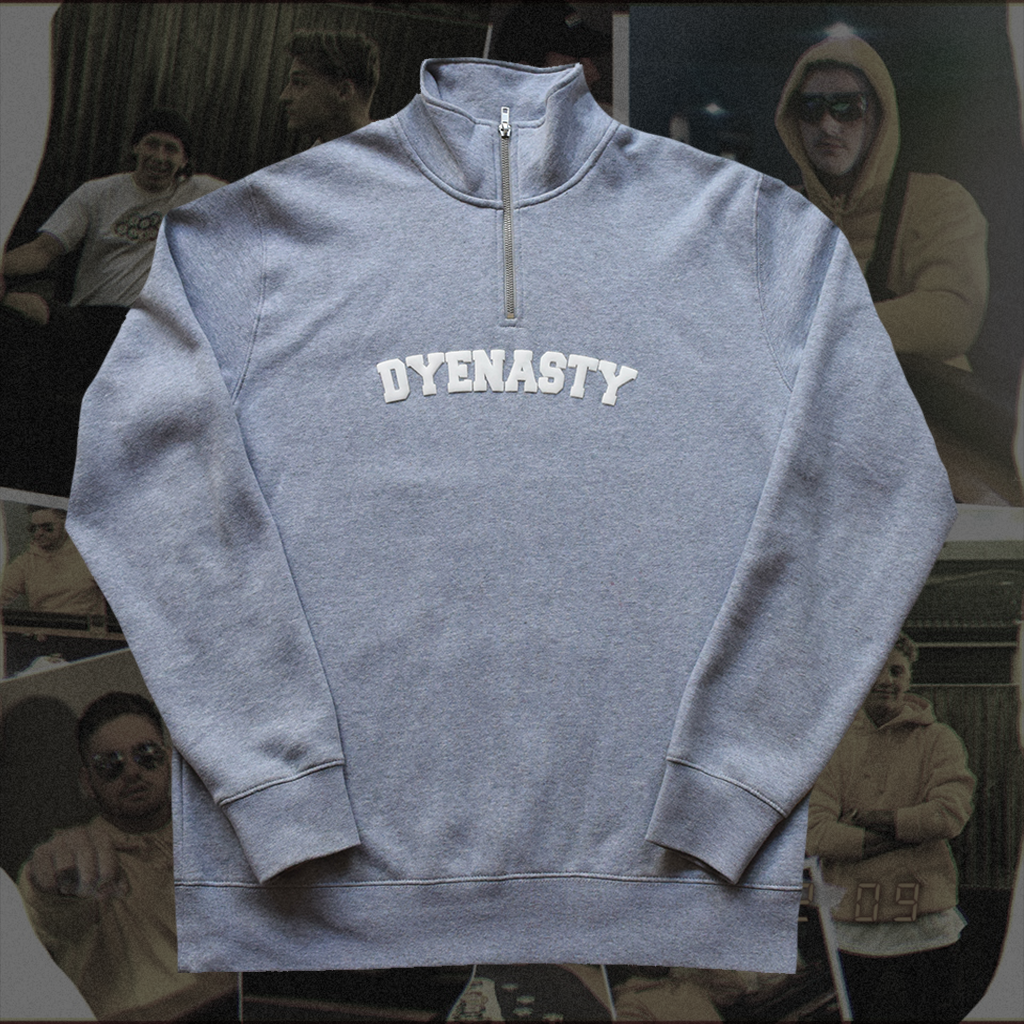 DYENASTY '1/4 ZIP' (GREY)