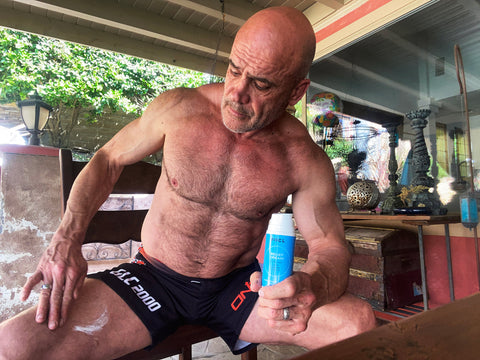 Bas Rutten Using FOCL Relief Cream