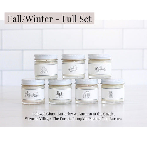 Fall/Winter Wizarding World Inspired Collection - Full Set of 7 MINI Candles
