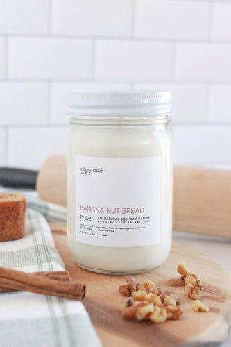 Banana Nut Bread - 12oz candle
