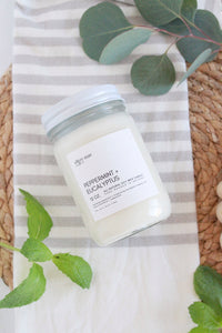Peppermint + Eucalyptus - 12oz candle