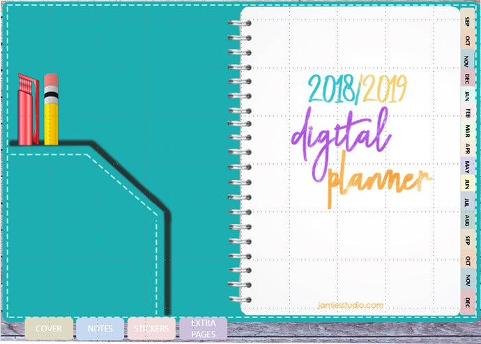 Jamie's Studio 2018/2019 Digital Planner