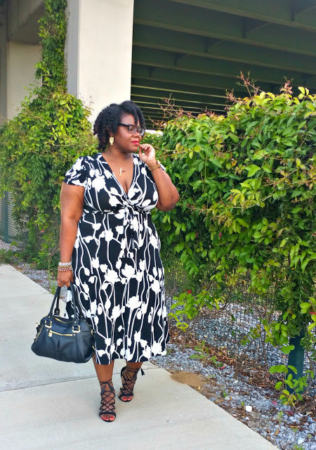 Black and White Midi Dress for Day to Night