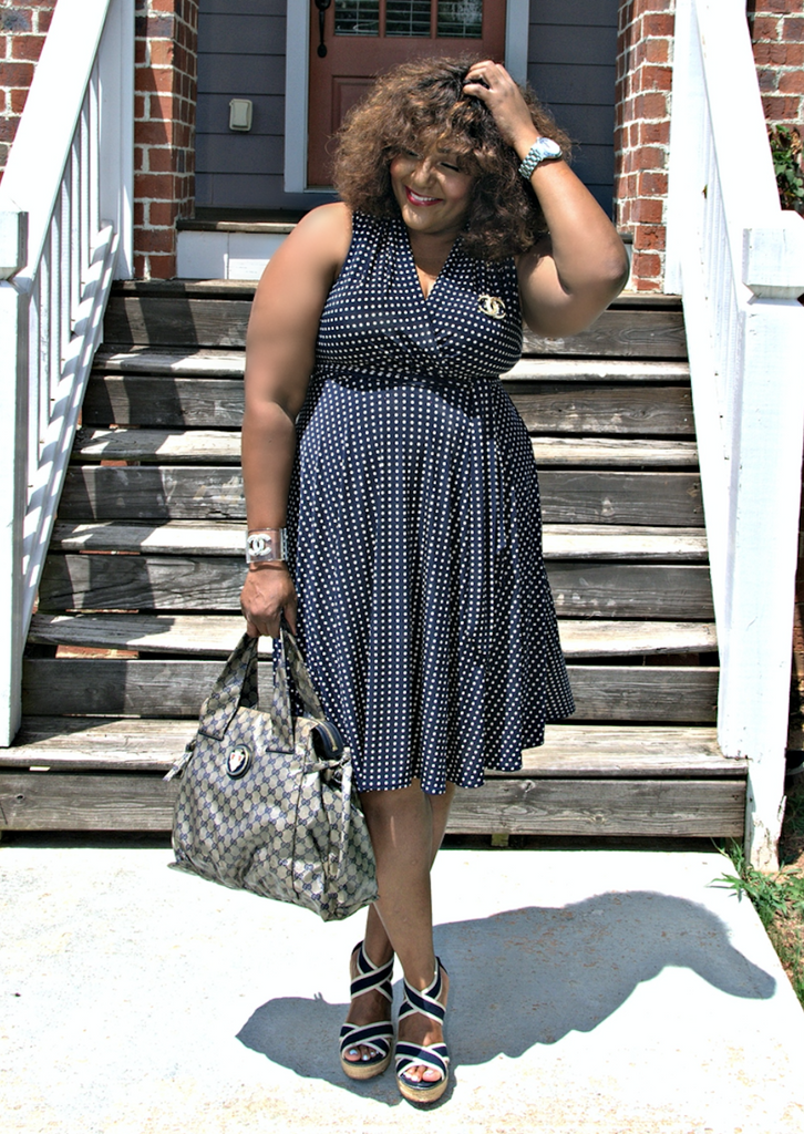 Polka Dot Wrap Dress for Work