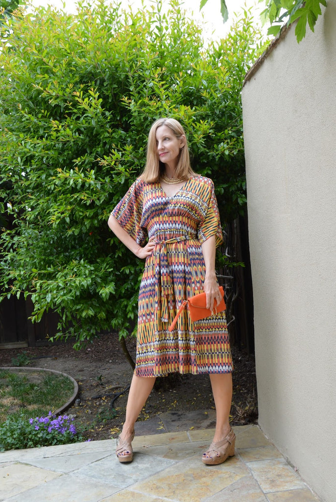 Ikat Kimono Dress for the Summer
