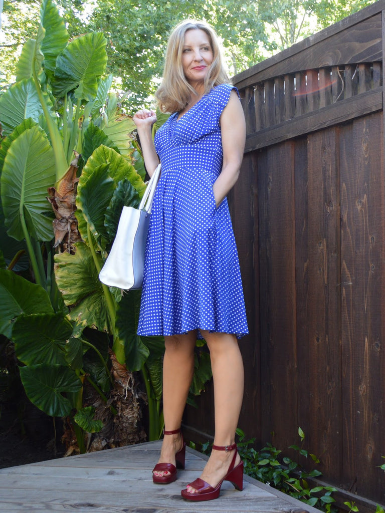 Cobalt Dress with Pockets for July 4th