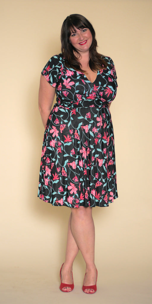 Carolyn Dress in Pink Lily
