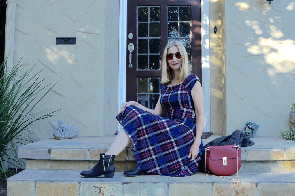 Karina Dresses Jackie Dress in Red and Blue Plaid