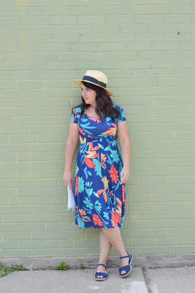 Tropical Blossoms Trudy dress