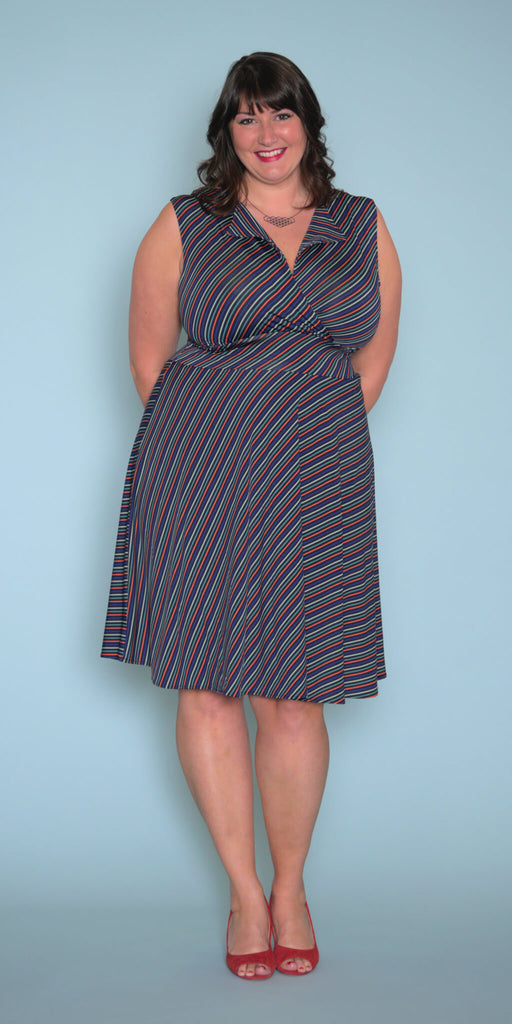 Peggy Dress in Mod Stripes
