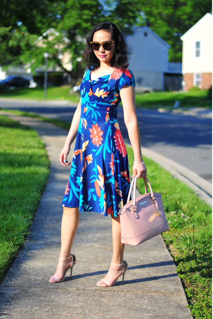 Simply Christianne in the Karina Dresses Trudy dress in Tropical Blossoms