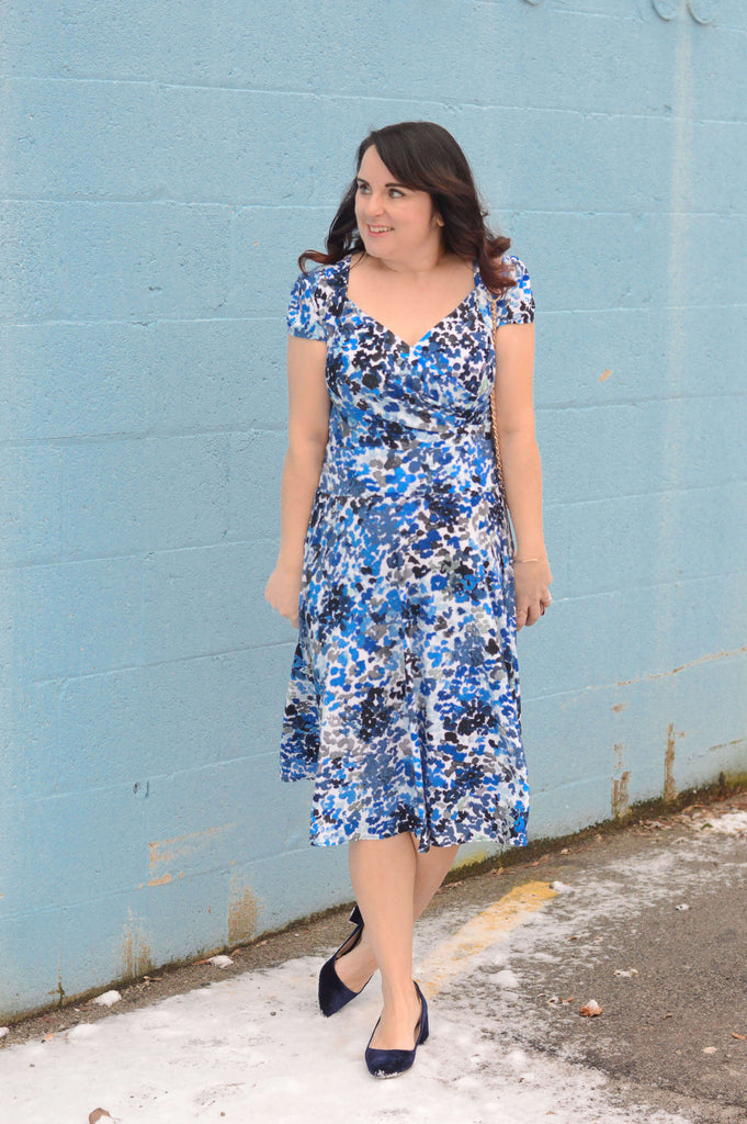 Teach in Fashion in the Karina Dresses Trudy Dress in Seaside Watercolor
