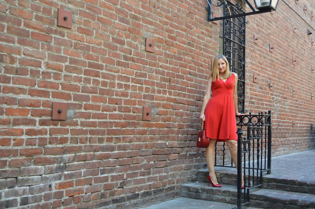 Fashion Should be Fun in the Karina Dresses Audrey Dress in Scarlet