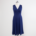 Abigail Dress in Solid Navy by Karina Dresses