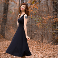 Abigail Dress in Black by Karina Dresses