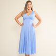 Abigail Dress in Forget Me Not Dot by Karina Dresses