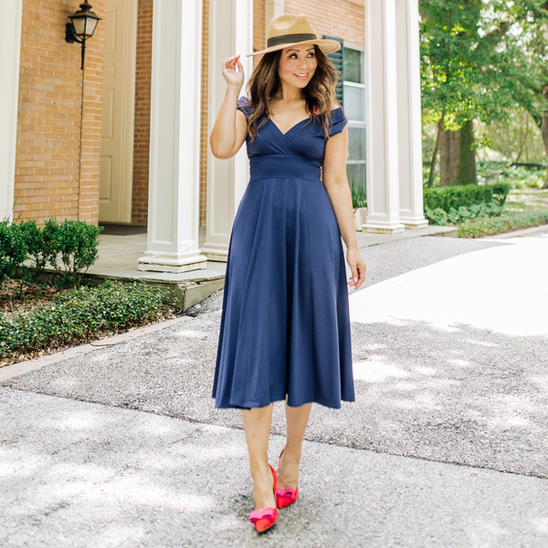 Abigail Dress in Navy by Karina Dresses