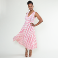 Abigail Dress in Pink Flamingos by Karina Dresses
