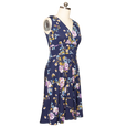 Audrey Dress in Blue Blossoms by Karina Dresses