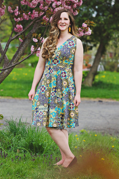 Audrey Dress in Mosaic by Karina Dresses