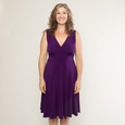 Audrey Dress in Plum by Karina Dresses