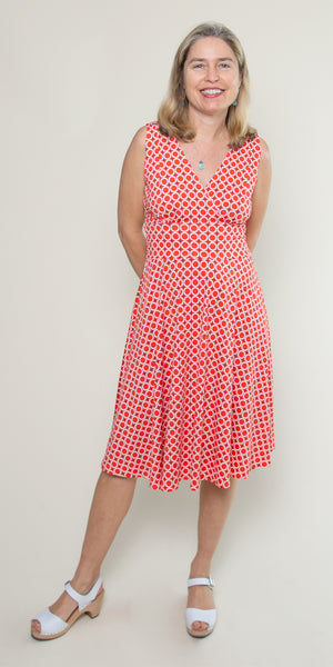 Audrey Dress in Poppy Maritime Modern by Karina Dresses