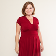 Carolyn Dress in Crimson by Karina Dresses