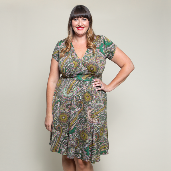 Carolyn Dress in Green Canyon by Karina Dresses