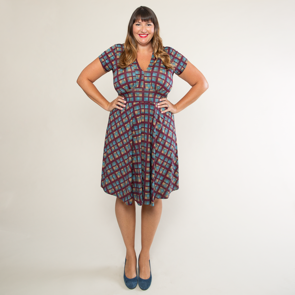 Carolyn Dress in Plaid Perfection by Karina Dresses