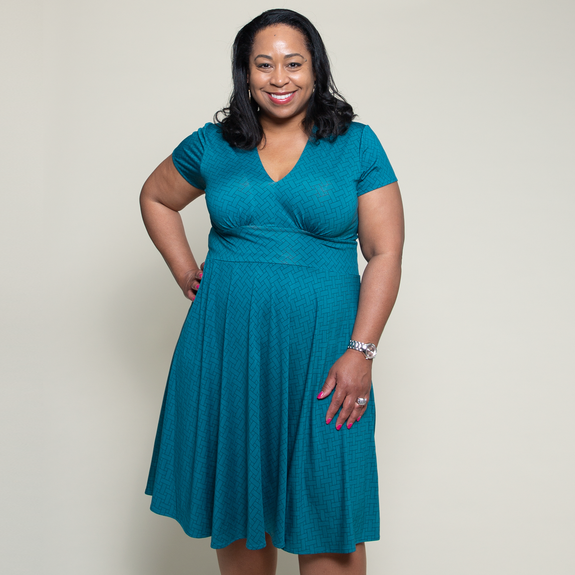 Carolyn Dress in Taos Teal by Karina Dresses