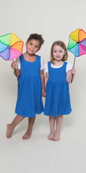 Cali Dress for Girls in Bahama Dot by Karina Dresses