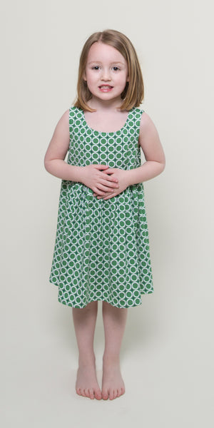 Cali Dress for Girls in Mint Maritime Modern by Karina Dresses